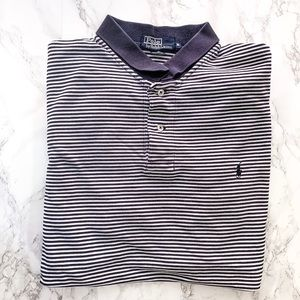 Polo by Ralph Lauren Blue Striped Polo | XL